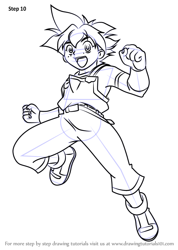 Learn How To Draw Max Tate From Beyblade Beyblade Step