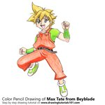 How to Draw Max Tate from Beyblade