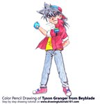 How to Draw Tyson Granger from Beyblade