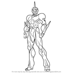 How to Draw Guyver from Bio Booster Armor Guyver