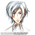 How to Draw Ashe from Black Butler