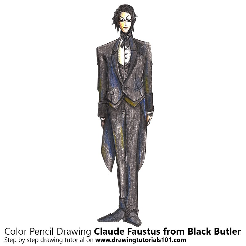 Claude Faustus from Black Butler Colored Pencils - Drawing ...