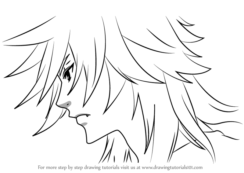 Learn How to Draw Pluto from Black Butler (Black Butler) Step by ...
