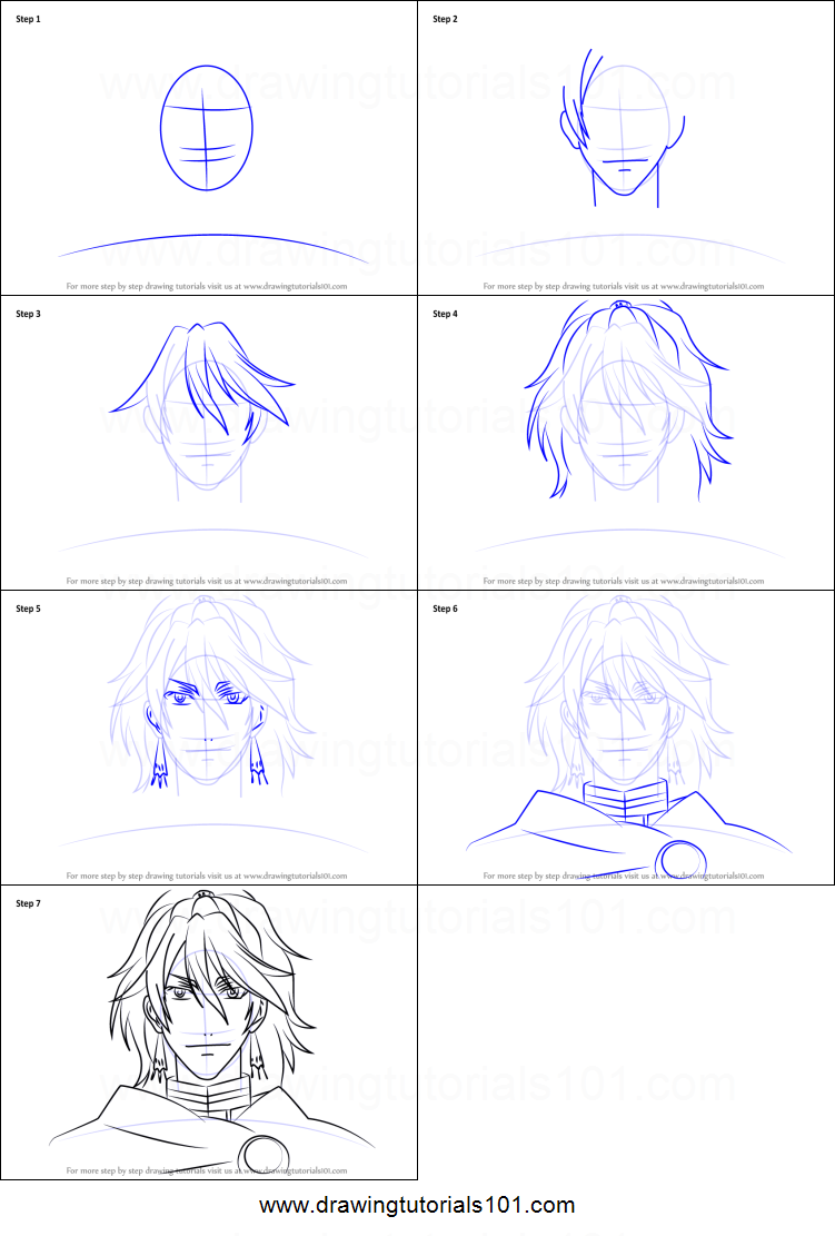 How to draw prince soma from black butler printable step by step drawing sheet drawingtutorials101 com