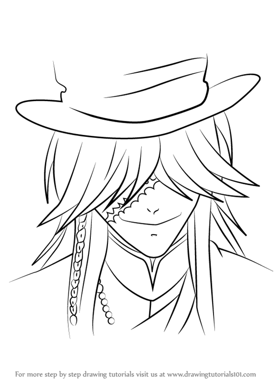 How To Draw Undertaker From Black Butler