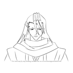 How to Draw Byakuya Kuchiki from Bleach