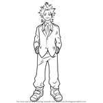 How to Draw Eijirou Kirishima from Boku no Hero Academia
