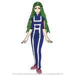 How to Draw Ibara Shiozaki from Boku no Hero Academia