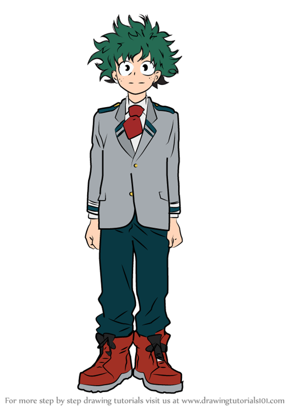 Learn How To Draw Izuku Midoriya From Boku No Hero Academia