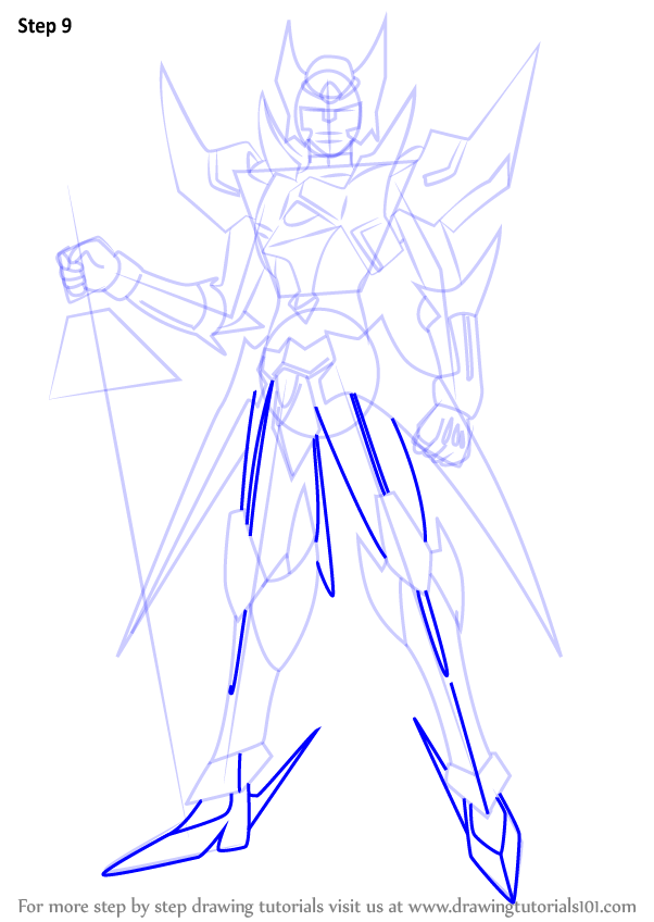 Step By Step How To Draw Blaster Blade From Cardfight