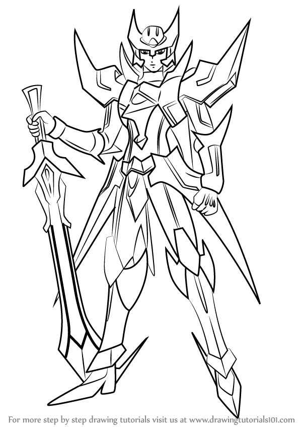 Step by Step How to Draw Blaster Blade from Cardfight!! Vanguard ...