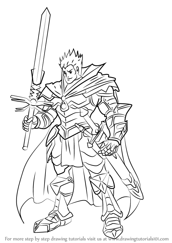 Learn How To Draw Demon Slaying Knight Lohengrin From Cardfight!! Vanguard (Cardfight ...