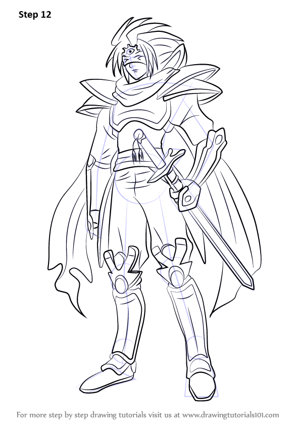 Step By Step How To Draw Knight Of Silence Gallatin From
