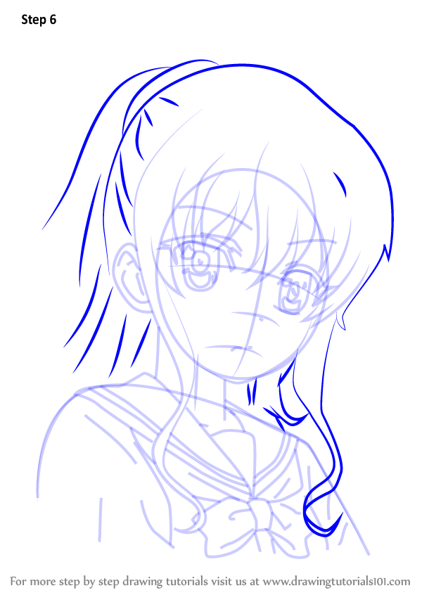 Learn How To Draw Nao Tomori Face From Charlotte