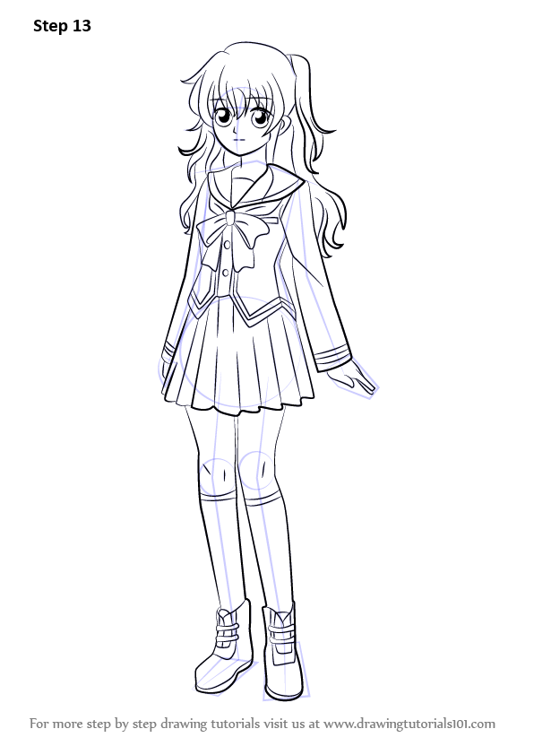 Step by Step How to Draw Nao Tomori