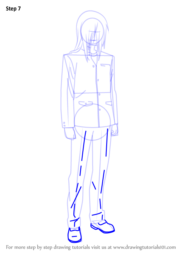 Learn How To Draw Takehito Kumagami From Charlotte