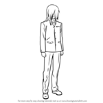 How to Draw Takehito Kumagami from Charlotte