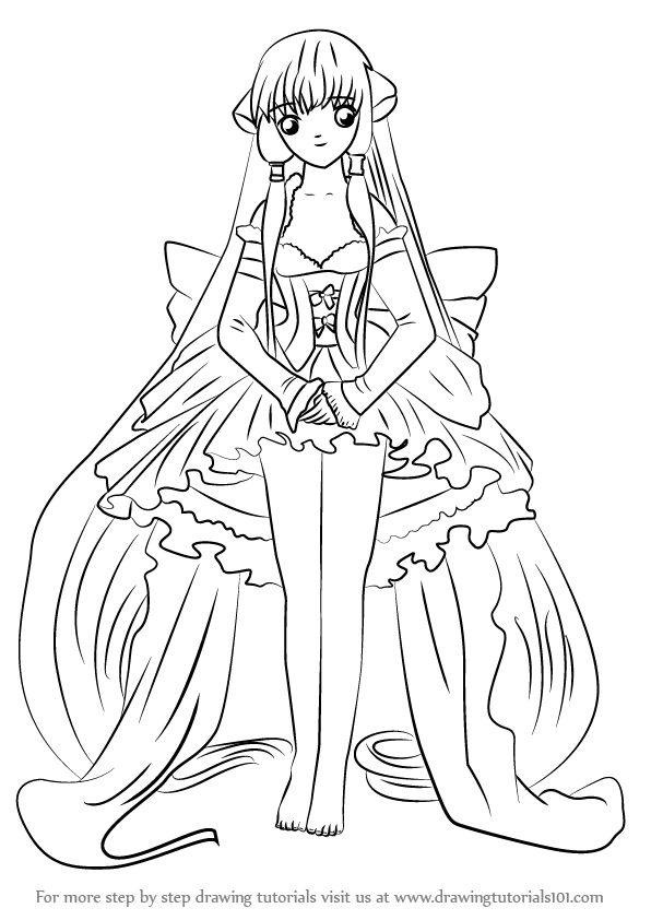 chi coloring pages | Learn How to Draw Chi from Chobits (Chobits) Step by Step ...