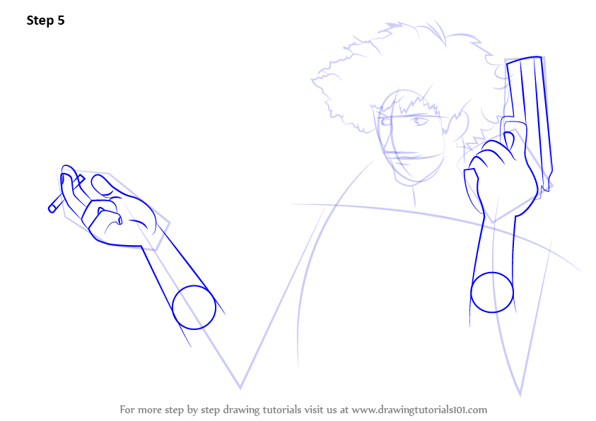 Step By Step How To Draw Spike Spiegel From Cowboy Bebop