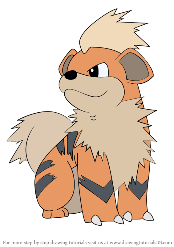 This is an image of Epic Growlithe Coloring Page