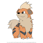 How to Draw Growlithe from Pokemon