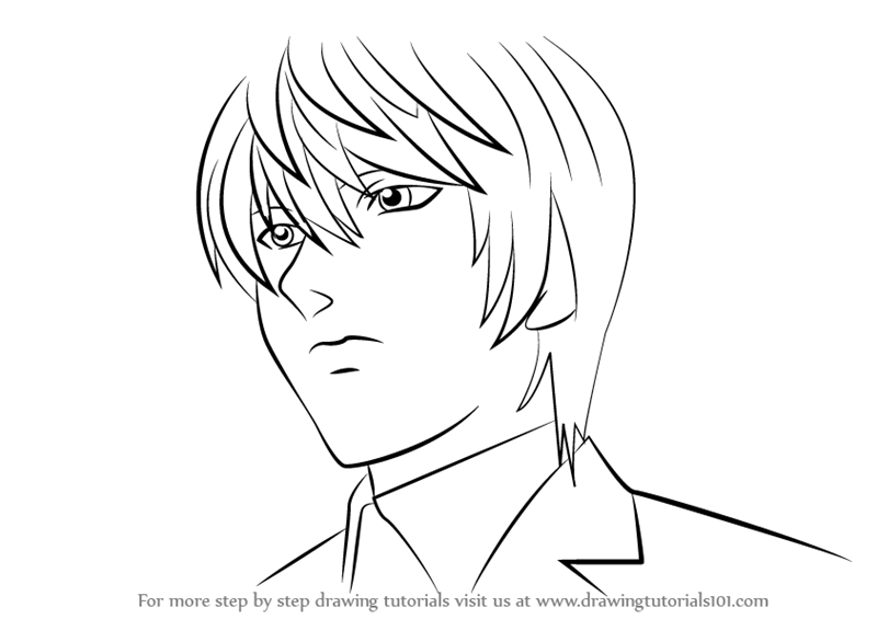 Image Result For Death Note Easy Coloring Pages