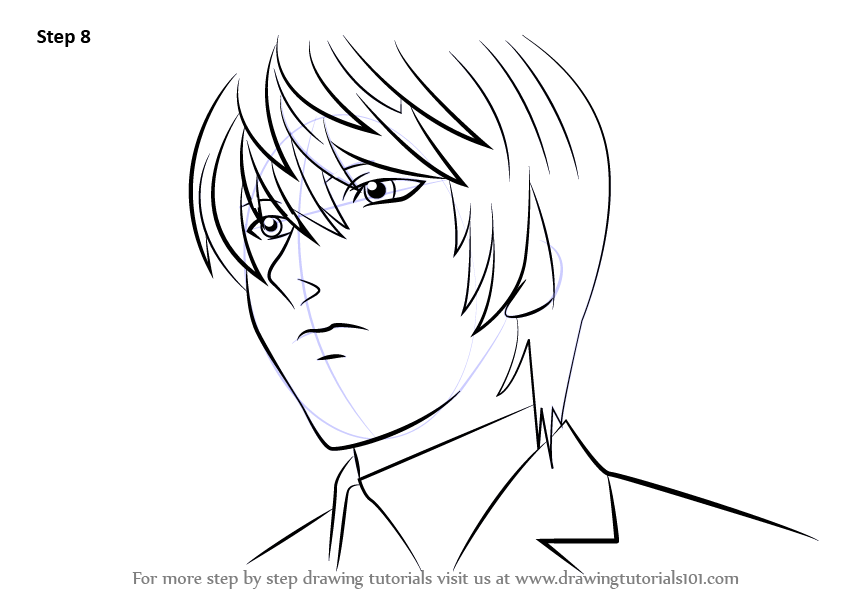 Learn How To Draw Light Yagami From Death Note Death Note
