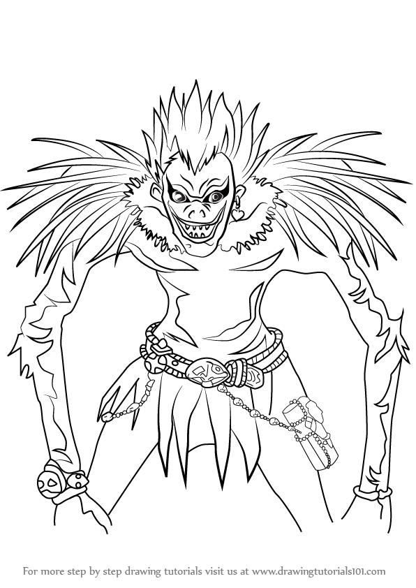 Learn How to Draw Ryuk from Death Note (Death Note) Step ...