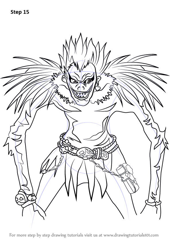 Learn How To Draw Ryuk From Death Note Death Note Step By