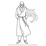 How to Draw Gin from Detective Conan
