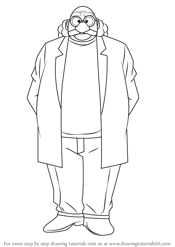 Learn How To Draw Hiroshi Agasa From Detective Conan
