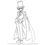 How to Draw Kaitou Kid from Detective Conan