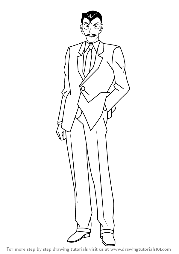 learn how to draw kogoro mouri from detective conan detective conan step by step drawing tutorials