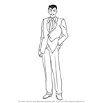 How to Draw Kogoro Mouri from Detective Conan