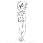 How to Draw Mitsuhiko Tsuburaya from Detective Conan