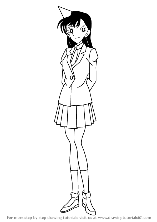 Learn How to Draw Ran Mouri from Detective Conan (Detective Conan