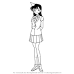 How to Draw Ran Mouri from Detective Conan