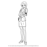 How to Draw Sharon Vineyard from Detective Conan