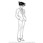 How to Draw Shinichi Kudo from Detective Conan