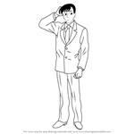 How to Draw Wataru Takagi from Detective Conan