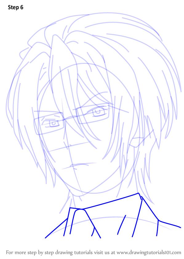 Step By Step How To Draw Reiji Sakamaki From Diabolik