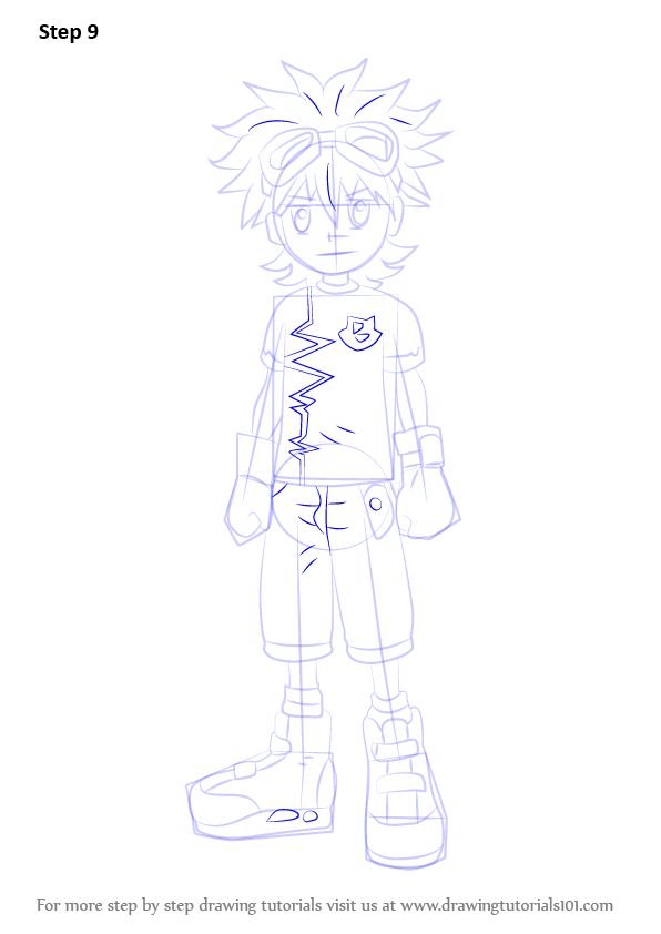 Learn How To Draw Mikey Kudo From Digimon Fusion Digimon