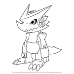 How to Draw Shoutmon from Digimon Fusion