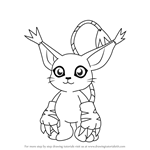 How to Draw Gatomon from Digimon
