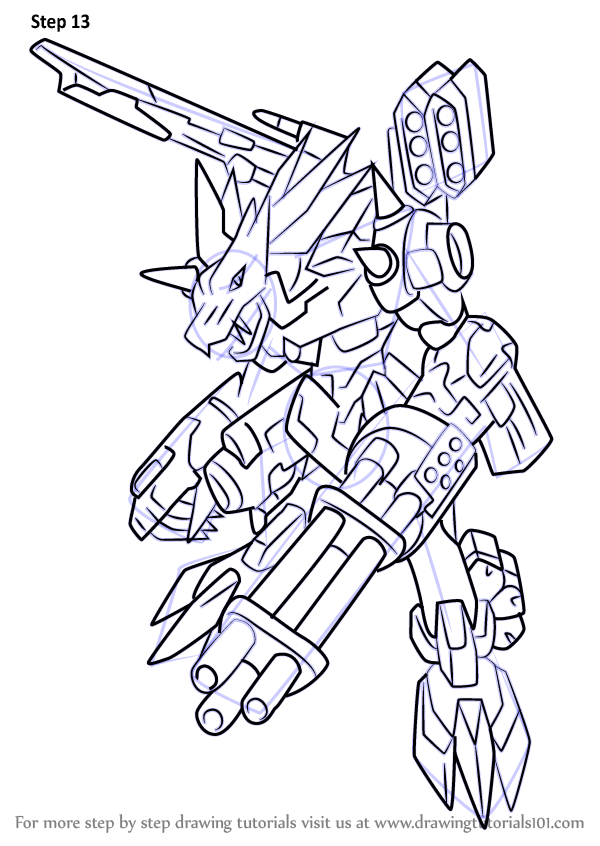 Learn How To Draw Metalgarurumon X Antibody From Digimon