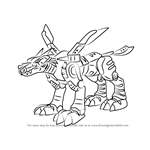 How to Draw MetalGarurumon from Digimon