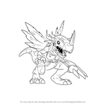 How to Draw MetalGreymon Virus from Digimon