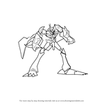 How to Draw Omnimon from Digimon