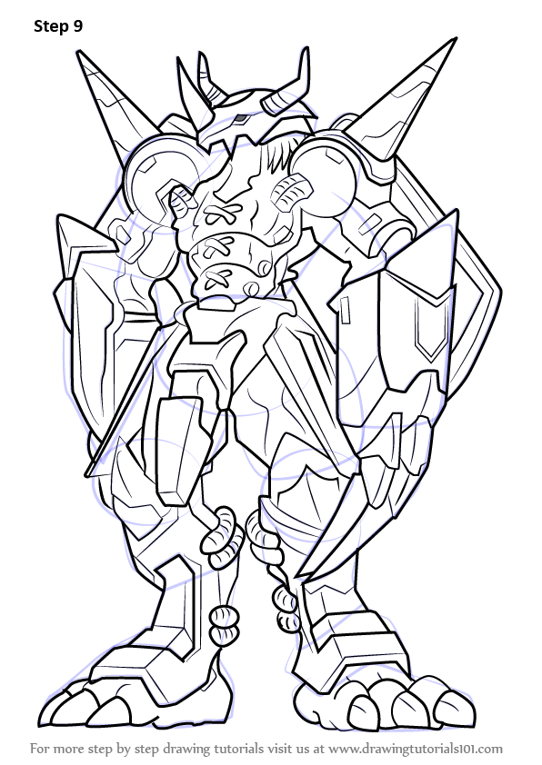 Learn How to Draw WarGreymon from