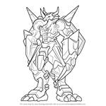 How to Draw WarGreymon from Digimon